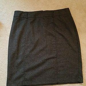 Classic gray pencil skirt